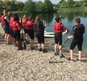 Group 1 & Group 2 preparing for paddle boarding 3