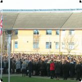 Remembrance at the Gateway Primary Free School...