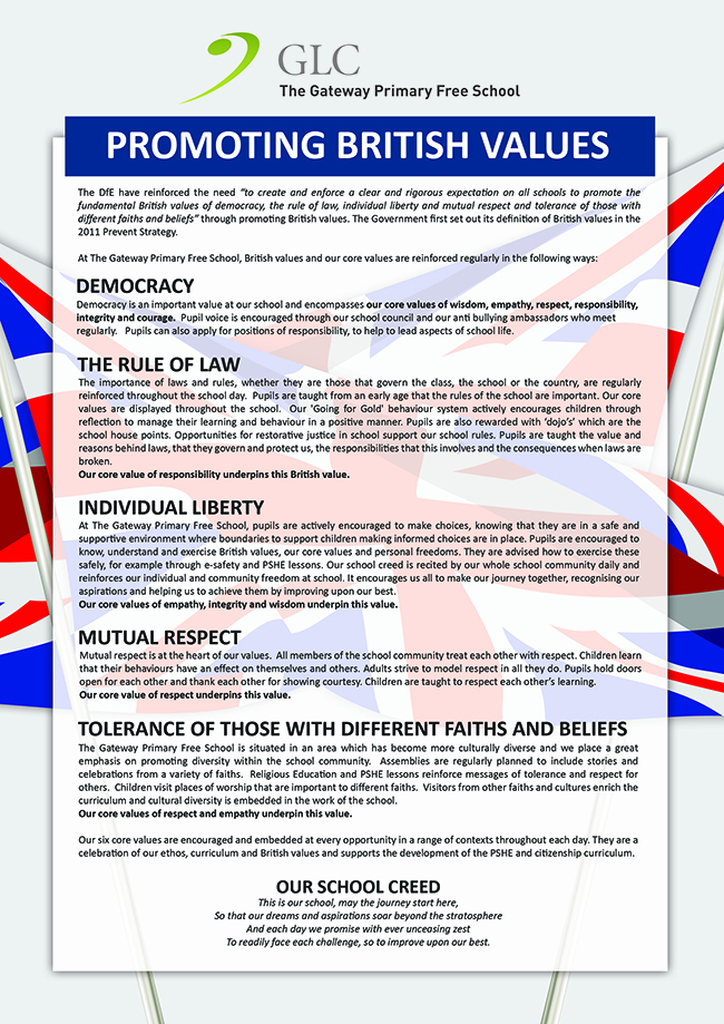 GPFS British Values Statement