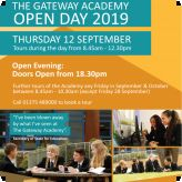 Open Day at The Gateway Academy 12th Spetmber 2019